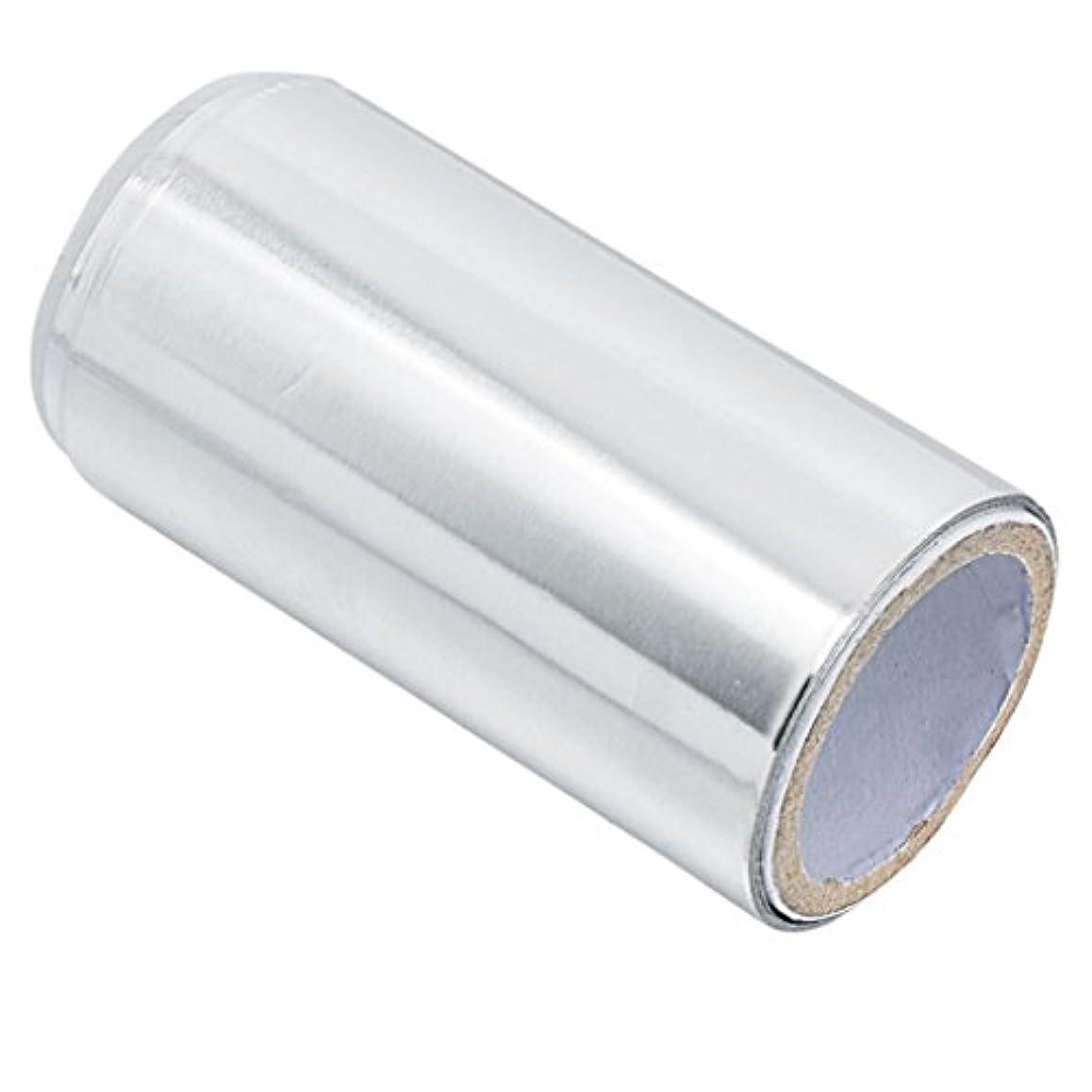 トランスミッション戦い芽マニキュア錫箔紙 ヘア/ネイル用 ジェル除却 ヘアパーマ 約5m