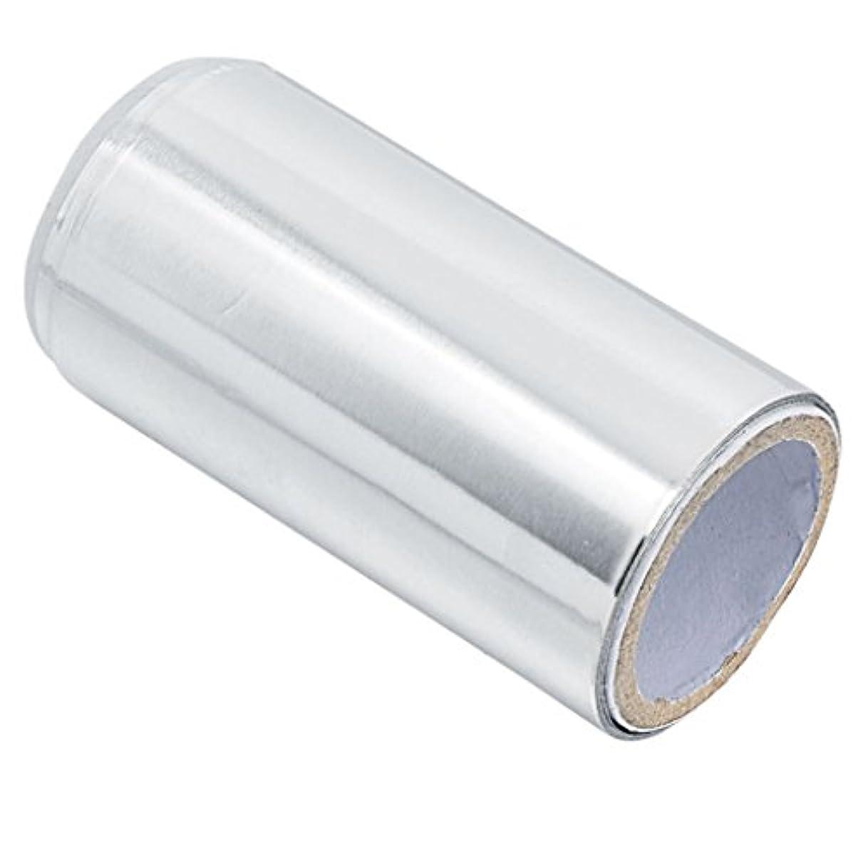 ルーキー受け入れスタックマニキュア錫箔紙 ヘア/ネイル用 ジェル除却 ヘアパーマ 約5m