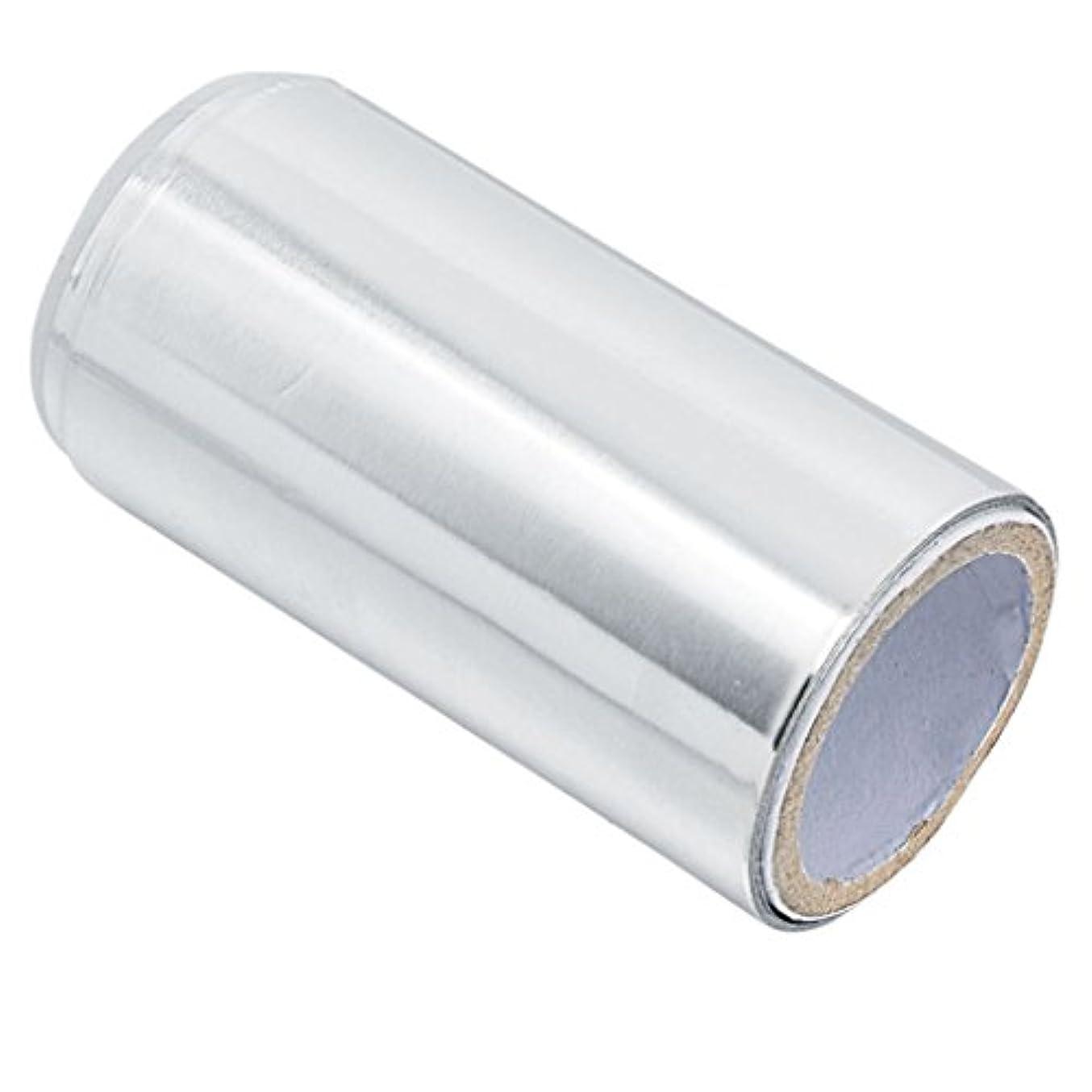 膿瘍引退するシールアルミニウム ヘア/ネイル用 錫箔紙 ネイルアート 爪化粧用具 クリーナーツール ジェル除却 5m