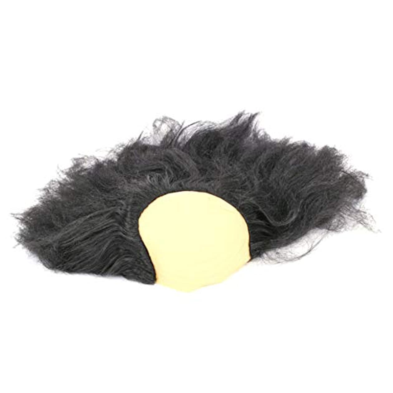 毛布愚か手荷物安全なハロウィーンの楽しみヘッド盖??沃??肥沃な男性と女性のかつら仮装パーティー用品、古い創造ハロウィンコスチュームジュエリー1つの黒