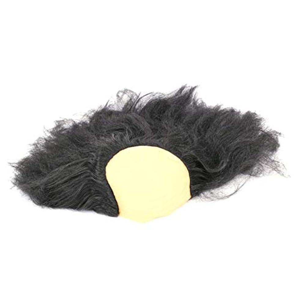 不調和六月付き添い人安全なハロウィーンの楽しみヘッド盖??沃??肥沃な男性と女性のかつら仮装パーティー用品、古い創造ハロウィンコスチュームジュエリー1つの黒