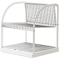 IKEA Bestaende 食器水切り シルバーカラー ホワイト 902.339.67 サイズ 12 1⁄2x11 1⁄2x14 1⁄4