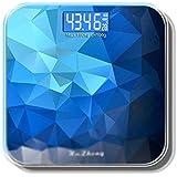 体重計?体脂肪計 電子スケール人間のスケール健康スケール充電式四角いポータブル強化ガラス (Color : Blue, Size : 28cm)