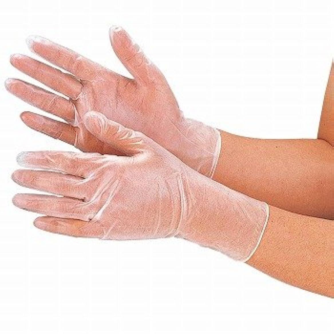 牧草地メイド私たちおたふく手袋/プラスチックディスポ手袋 [100枚入]/品番:255 サイズ:M