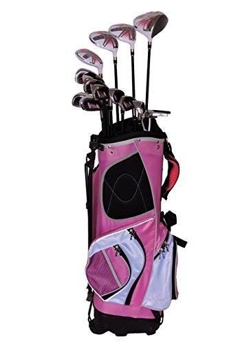 sephlin–Lady Talia署名ピンクRight Hand 13個セットゴルフクラブ&ゴルフバッグ9–12