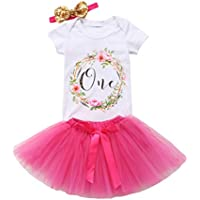 Baby Girl Clothing Set 1st Birthday Outfits Cotton Long Sleeve Top Lace Tutu Shorts Floral Clothes