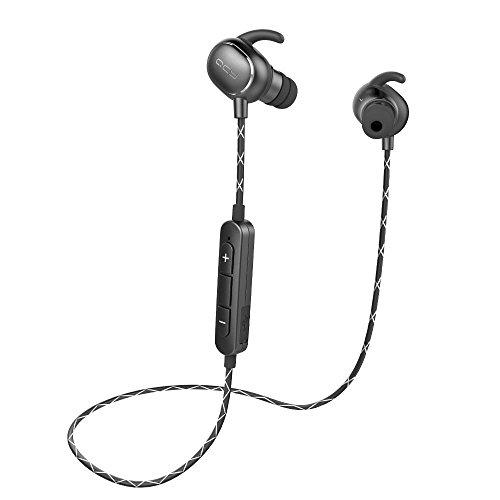QCY QY19 イヤホン bluetooth 4.1 aptX 高音質コーデック対応 ワイヤレス IPX64 防水 スポーツ CVC6.0 ノイズキャンセル メーカー保証12カ月 (スターブラック)