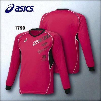 [해외]asics (아식스) XW6617 남여 배구웨어 프린트 사례 셔츠 LS/asics (ASICS) XW 6617 Unisex volleyball wear print practice shirt LS