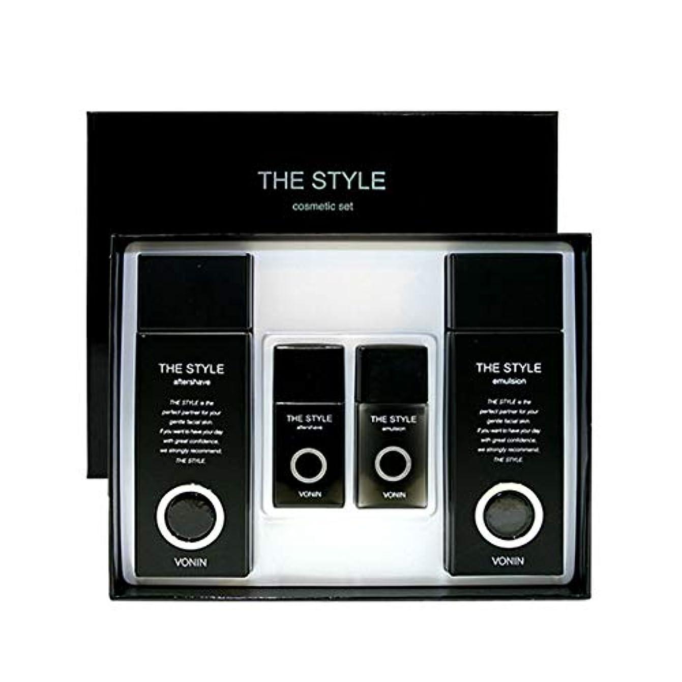 六月南東韓国ボニンダースタイルアフターシェーブ170ml(135+35)エマルジョン170ml(135+35)セットメンズコスメ韓国コスメ、VONIN The Style Aftershave 170ml(135+35) Emulsion 170ml(135+35) Set Men's Cosmetics Korean Cosmetics [並行輸入品]