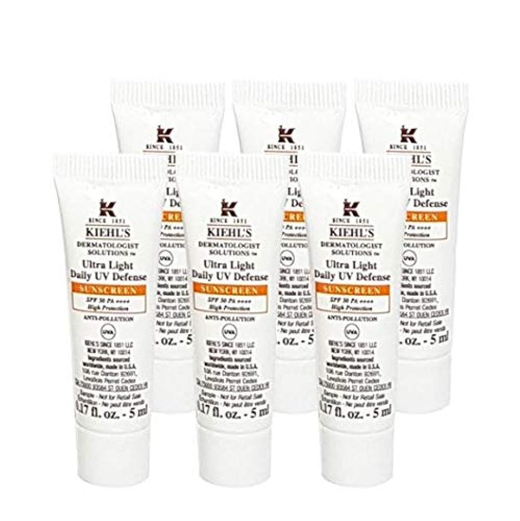 耐える失われた同様のKiehl's(キールズ) キールズ UVディフェンス (5ml x 6個) / KIEHL'S Ultra Light Daily UV Defense Sunscreen SPF 50 PA++++