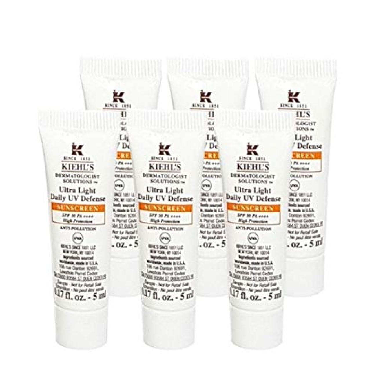 ヘビ敏感な規定Kiehl's(キールズ) キールズ UVディフェンス (5ml x 6個) / KIEHL'S Ultra Light Daily UV Defense Sunscreen SPF 50 PA++++