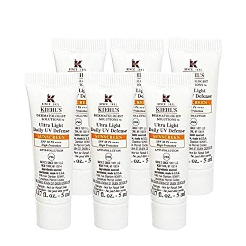 市民手書きであるKiehl's(キールズ) キールズ UVディフェンス (5ml x 6個) / KIEHL'S Ultra Light Daily UV Defense Sunscreen SPF 50 PA++++