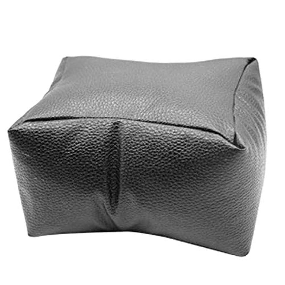収縮意味のある魅力TOOGOO 1個ネイルアート機器ハンドレストクッション枕ソフトpuレザーフットハンドホルダー二重使用マニキュアネイルアート機器ブラック