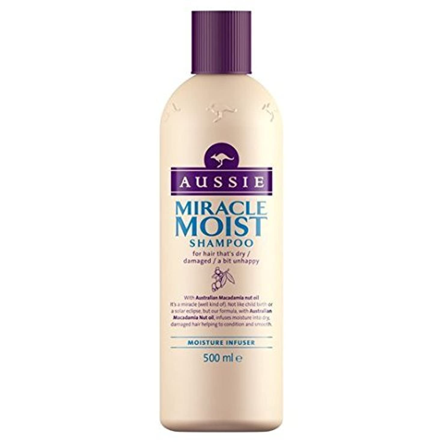 球状文法記念日Aussie Miracle Moist Shampoo (500ml) by Grocery [並行輸入品]