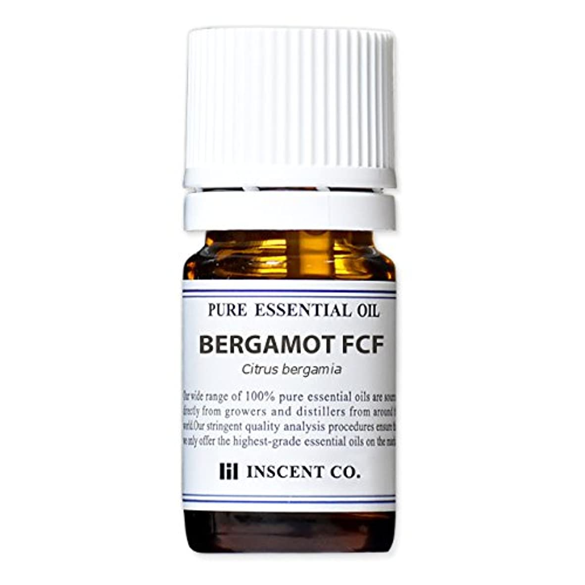 神秘価値半径ベルガモット FCF (ベルガプテンフリー) 5ml インセント アロマオイル AEAJ 表示基準適合認定精油 (フロクマリンフリー)