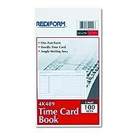 Rediform Employee Time Card Weekly 4.25 x 7 Inches 100 per Pad (4K409) 【Creative Arts】 [並行輸入品]