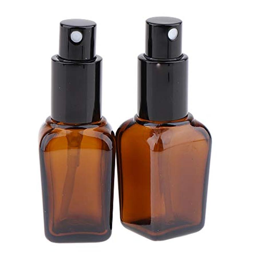 2本 スプレーボトル ガラス ポンプボトル 漏れ防止 香水ボトル 5サイズ選べ - 20ml
