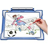 Crayola Light-Up Tracing Pad, Blue (Art Tool, Bright LEDs; Easy Tracing with 1 Pencil, 12 Colored Pencils, 10 Blank Sheets, 10 Tracing Sheets)