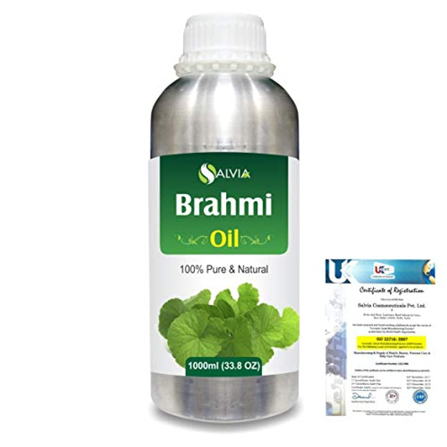 スカルク石油砂漠Brahmi (bacopa monniera) 100% Natural Pure Oil 1000ml/33.8fl.oz.