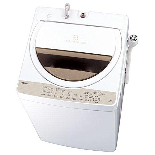 東芝 全自動洗濯機 6kg ステンレス槽 風呂水ポンプ付  グランホワイト AW-6G5(W) AW-6G5(W)