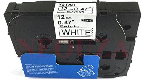 ピータッチ 布テープ 白ラベル TZe-FA3 [青文字 12mm×3m]