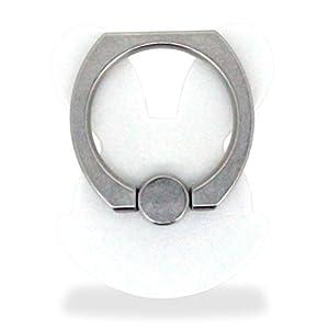 ホワイトナッツ スマホリング ウサギ型 ホワイト バンカーリング 落下防止 スタンド おしゃれ かわいい オシャレ 指輪 デザイン 可愛い シンプル グリップ wn-0832346-wy