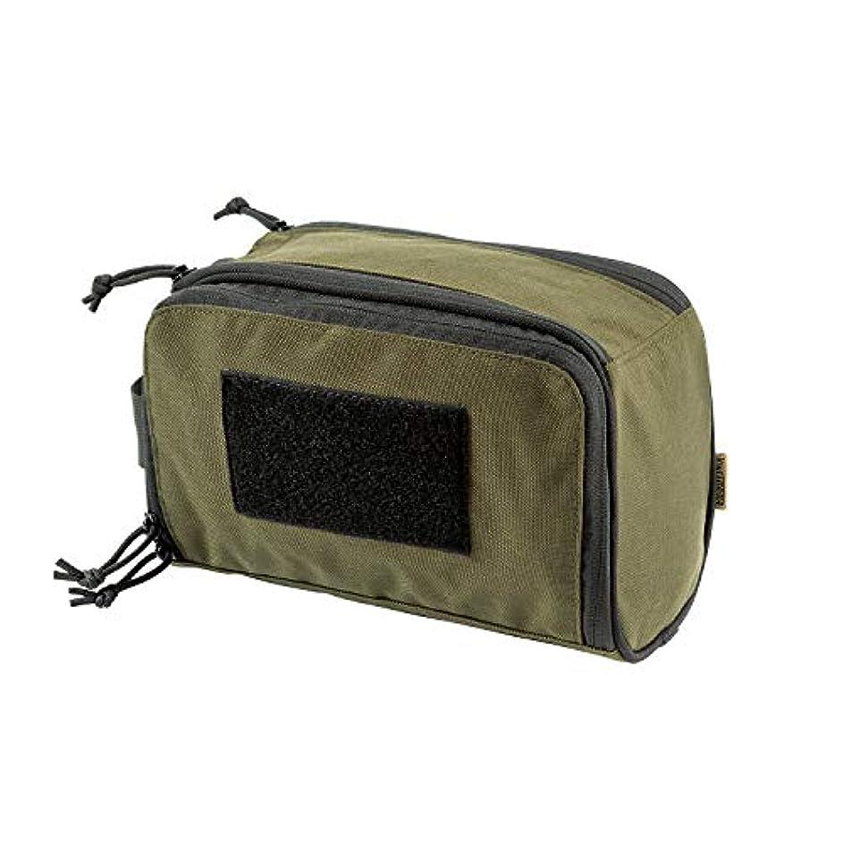 セクタマットサイバースペースOneTigris 収納バッグ トラベルポーチ 化粧ポーチ 洗面道具入れ 旅行 出張 ミリタリー系 (オリーブグリーン)