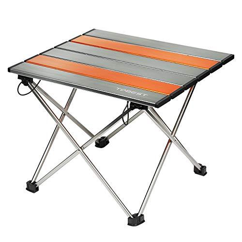 TDBEST アウトドアテーブル 折り畳み ロールテーブル アルミ製 超軽量...
