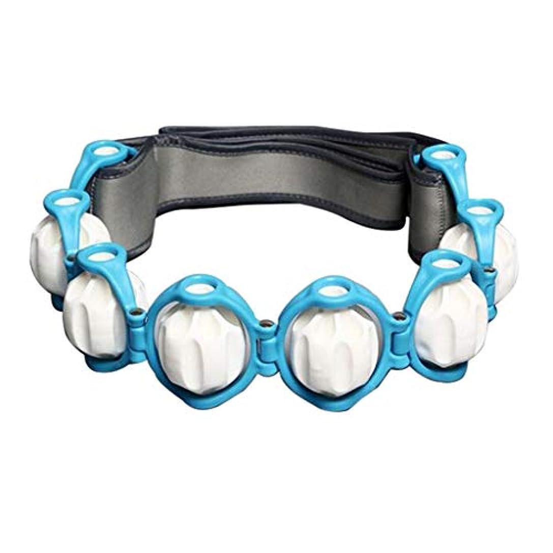 征服ボックス黒くするフルボディ - 多機能 - 痛みを軽減するためのハンドヘルドマッサージローラーロープ - 青, 説明したように