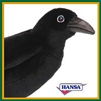 HANSA ハンサ ぬいぐるみ 6266 カラス 31 BLACK CROW