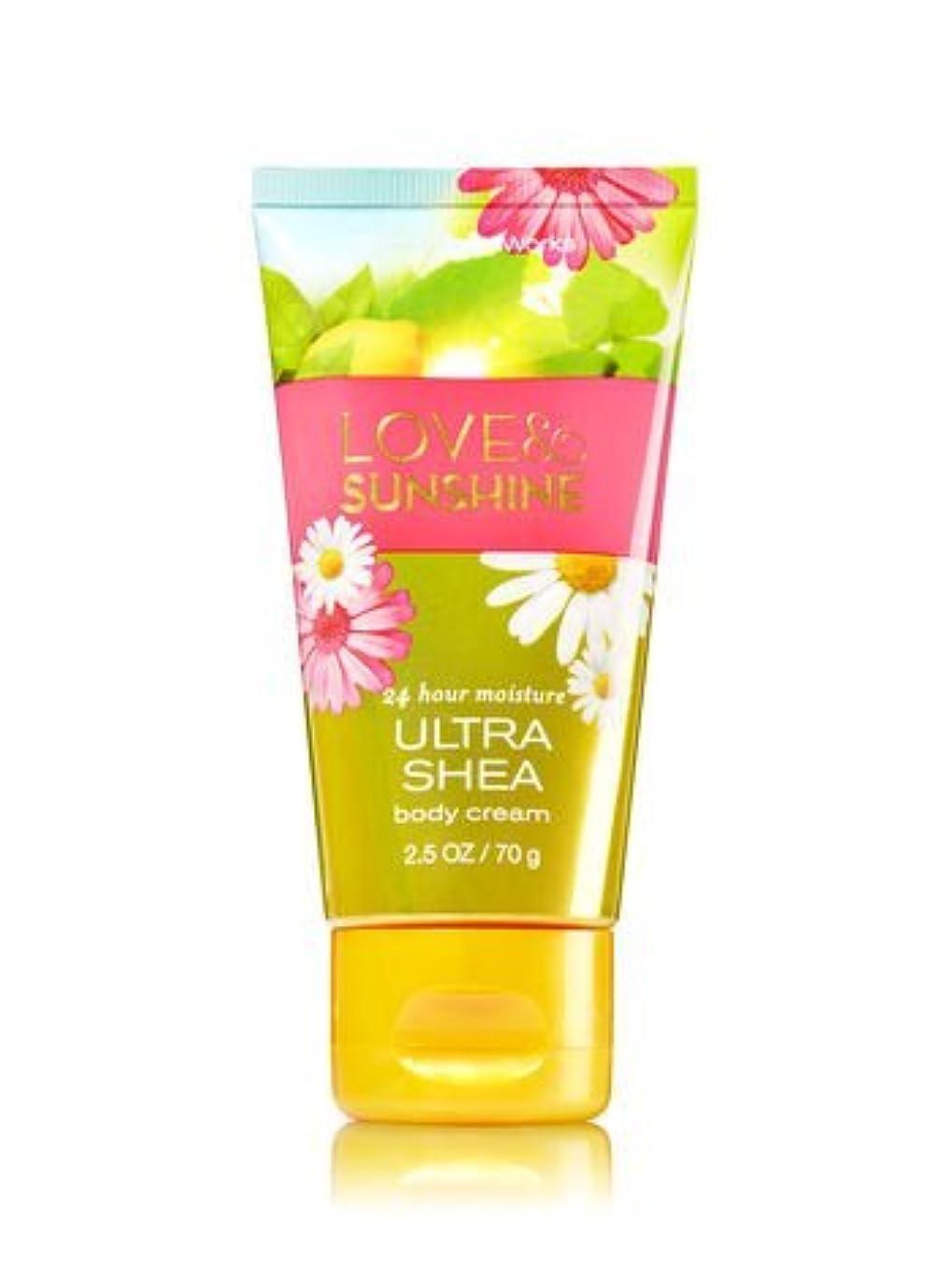 【Bath&Body Works/バス&ボディワークス】 トラベルサイズ ボディクリーム ラブ&サンシャイン Travel Size Body Cream Love & Sunshine 2.5 oz / 70 g [並行輸入品]