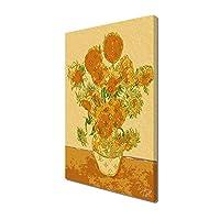 STAR DESIGN #sh10b On Sunflower Orange P10サイズ 【キャンバスパネル】 P10 (530×410×20mm) ゴッホ ひまわり ルイヴィトン アートパネル 木枠パネル #Shelljill