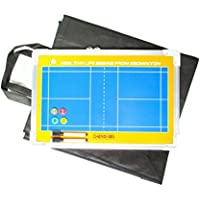 サッカー バスケットボール 大 作戦盤(専用ケース?マグネット付) タクティック コーチング ボード ペンセット