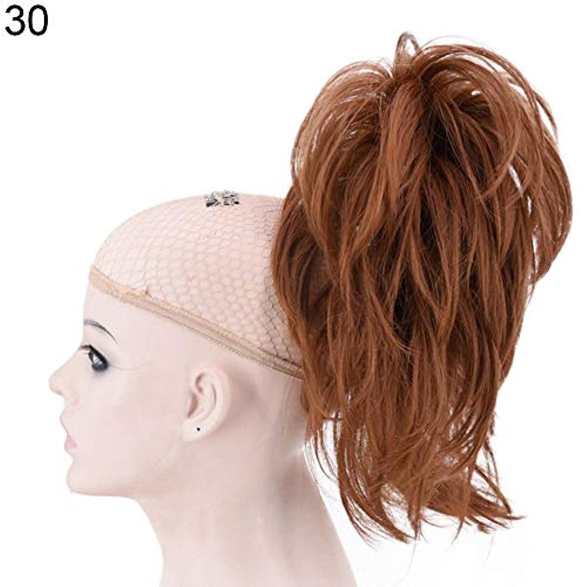 日焼けバイオレットエスカレーターslQinjiansav女性ウィッグ修復ツール30cmポニーテール合成ヘアエクステンションパーティーウィッグヘアピースのショートカーリークリップ