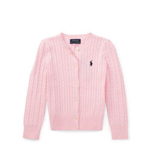 ポロ ラルフローレン ケーブルニット・コットンカーディガン[ピンク](女の子3~7歳用)3サイズ
