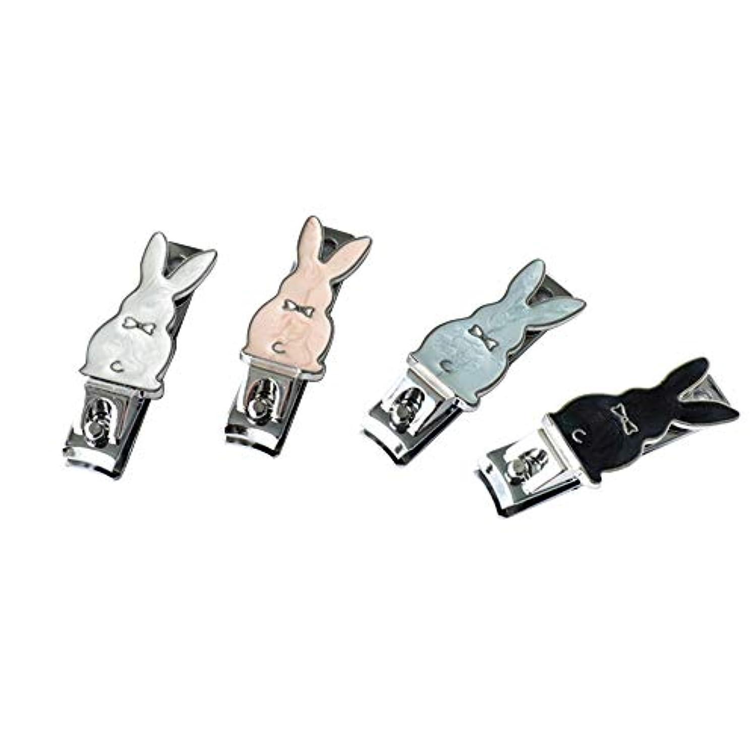 胃コンパクト区別するかわいい漫画の爪切りアーク口爪切りウサギ型の爪切り携帯便利男女兼用爪切り、ランダムな色