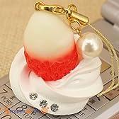 StrapyaNext ホイップクリーム に練乳イチゴ のスイーツストラップ 107874