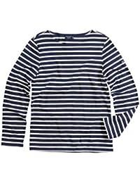セイントジェームス メンズ Tシャツ Saint James Minquiers Moderne Striped Sa uz [並行輸入品]