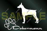 アトリエDOM DOG STICKER 少し大きめ ドーベルマン ライトグレー