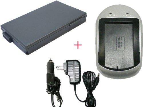 充電器 セット ≪ Canon ≫ BP - 208 互換 バッテリ- + 充電器 ( AC 電源 タイプ 色:シルバ- )
