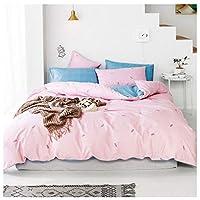 CHENGYI 綿シートは枕カバーシンプルホームテキスタイル寝具四季ユニバーサル3色 (Color : Pink, Size : 2.0m)