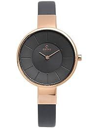 [オバック] OBAKU 腕時計 ウォッチ グレー×ローズゴールド ミニマルデザイン シンプル レディース [並行輸入品]