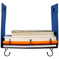 Five Star Polyester Locker Storage Shelf with Hanging Hooks - Cobalt