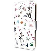 イベリコ豚と恋の奴隷。 02 モチーフ (グラフアートデザイン) 手帳型スマホケース iPhone6/6s/7/8兼用