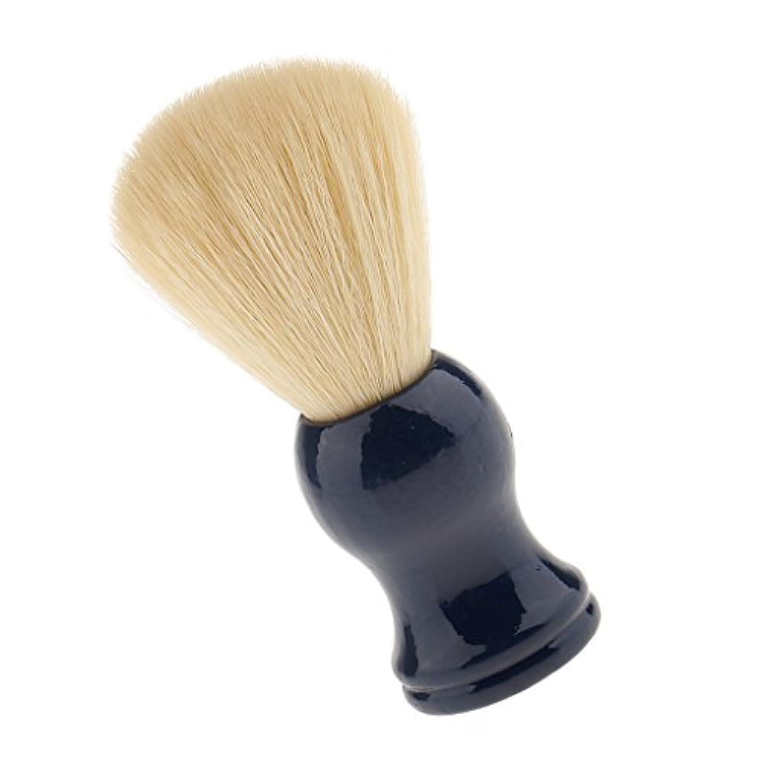 行プロジェクター大きなスケールで見るとKesoto シェービングブラシ 美容院用工具 理髪用 スキンケア サロン 便利グッズ ひげブラシ 首/顔 散髪整理  1点