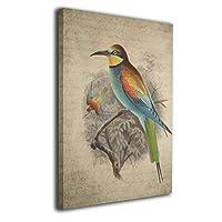 Zetena 虹色の鳥 アートパネル アートフレーム キャンバス絵画 壁飾り絵画 ポスター インテリア絵画 インテリア装飾 壁飾り木枠セット モダン 新築飾り 贈り物