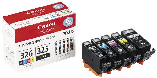 Canon 純正 インク カートリッジ BCI-326(BK/C/M/Y)+BCI-325 5色マルチパック BCI-326+325/5MP