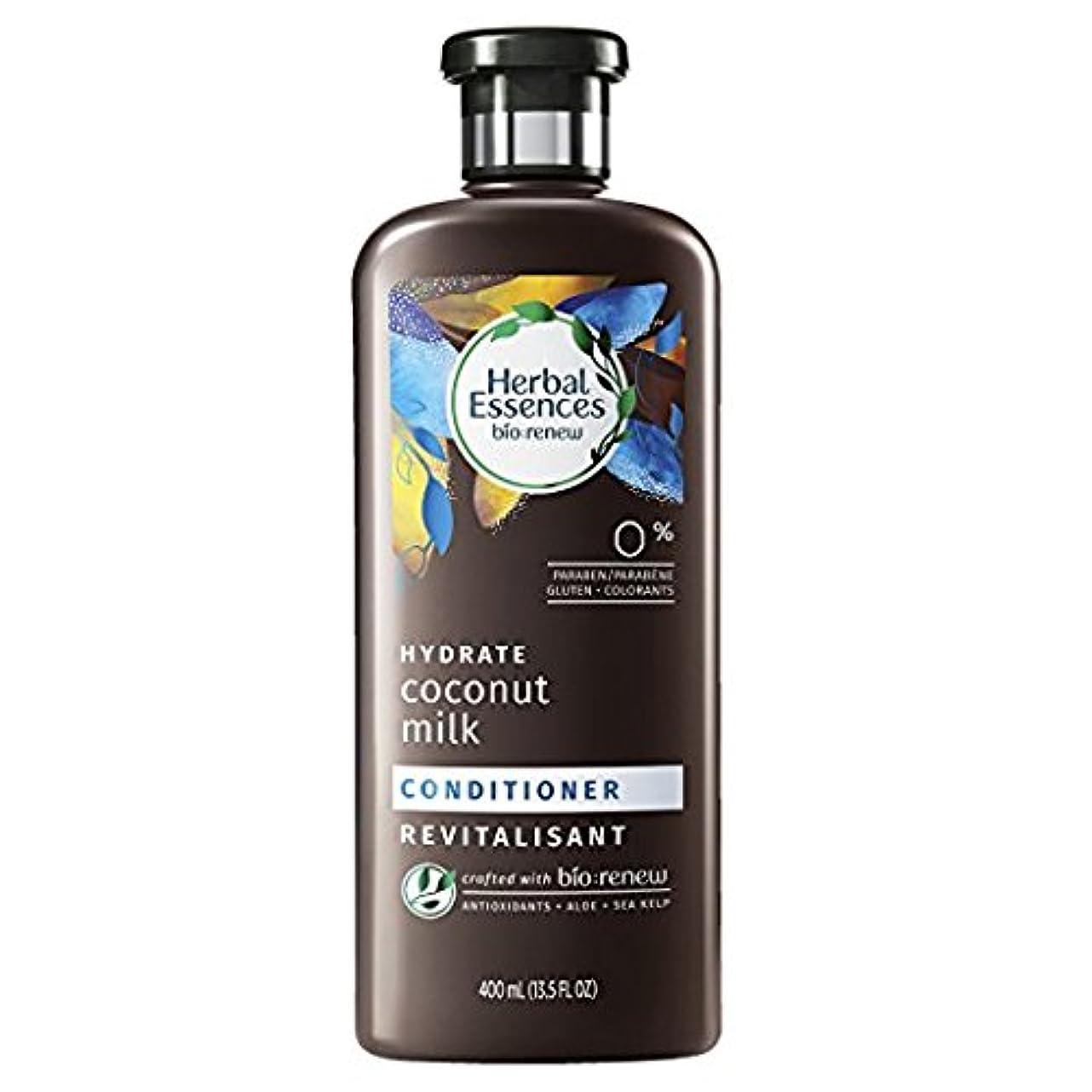 変化する名前でダースHerbal Essences Biorenew水和物ココナッツミルクコンディショナー、13.5液量オンス(2パック)