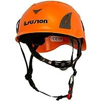 バンジージップラインマウンテン建設安全保護ヘルメットオレンジクライミングFUSION CLIMB Meka II