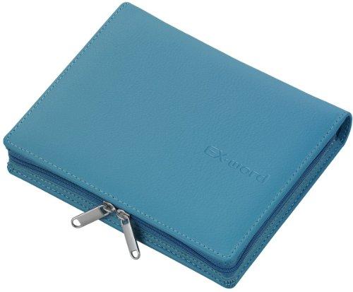 CASIO Ex-word 電子辞書 純正ケース ヘッドホン・データカード収納可能フルカバータイプ ブルー 対応シリーズ:XD-B、XD-SC、XD-A、XD-SP、XD-SW、XD-STシリーズ XD-CC1902BU